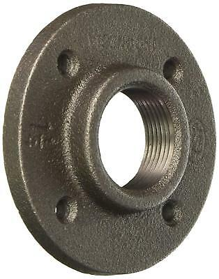 """1-1/4"""" Black Malleable Iron Pipe Floor Flange Fitting- Pack of 10"""