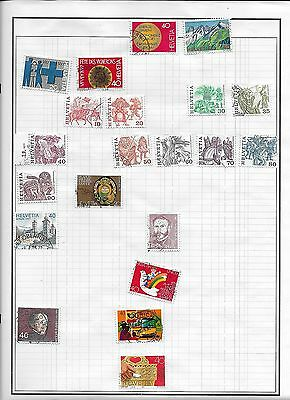 Nice collection Of Stamps from Switzerland (lot 1)