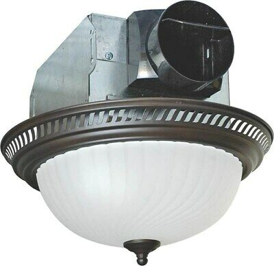Fan/Light Bath Combo 70cfm Orb, by Air King America, (Air King 70CFM Exhaust Fa)