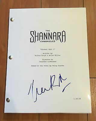 IVANA BAQUERO SIGNED THE SHANNARA CHRONICLES FULL PILOT SCRIPT w/ PROOF