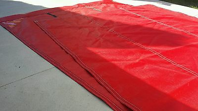 NEW RED,mesh truck tarp,7'x12' for dump trucks,flip cover,dump tarp,flip tarp
