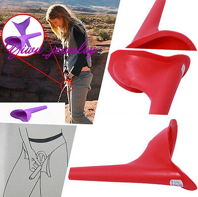 Red Camping Traveling Womens Portable Emergency Standing UP Pee Urinal Tools Y2