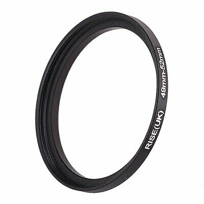 49mm-52mm 49-52 mm 49 to 52 Step Up Filter Ring Stepping Adapter Adaptor Black