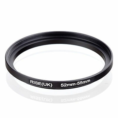 52mm to 55mm 52-55 52-55mm52mm-55mm Stepping Step Up Filter Ring Adapter