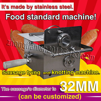 free shipping,stainless steel Hand-rolling sausage tying and knotting machine