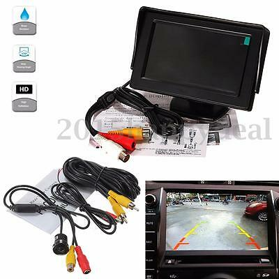 "Night Vision Reverse Camera and 4.3"" LCD Monitor Car Rear View Kit for Bus Truck"