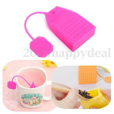 Silicone Tea Bag Leaf Strainer Herbal Spice Infuser Filter Diffuser Kitchen New