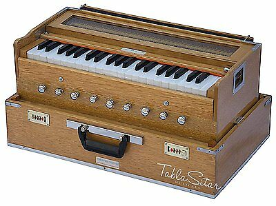 HOME DECOR Harmonium Professional Grade 3.25Octave 9 Stop4 Drone Bass/Male 440