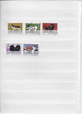 Set of 5 dog Stamps from Bulgaria (lot 7)