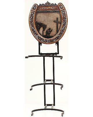 Western Moments Cowboy Prayer Hat Rack Brown One Size