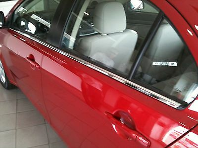 PEUGEOT 508 Saloon 10-16 - CHROME SIDE DOOR WINDOW SILL COVERS TRIM Frame