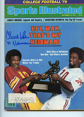 USC Trojans Charles White signed Sports Illustrated  W/COA simms