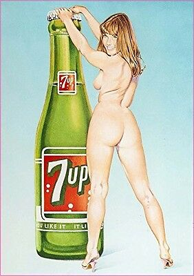 """7 Up Pin Up Girl Decal 5"""" Free Shipping"""