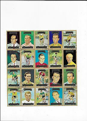 Sheet of Sports Topical Stamps from Ajman (UAE) (Lot1)