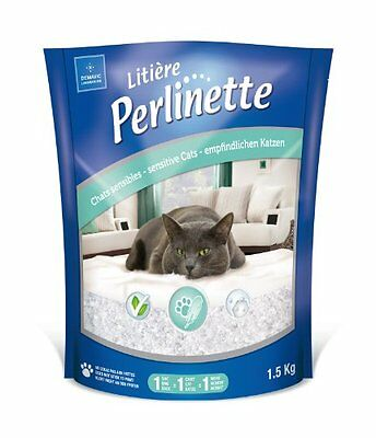Perlinette Silica-Gel Litter For Sensitive Cats 1.5 Kg Pet Supplies New UK SELL