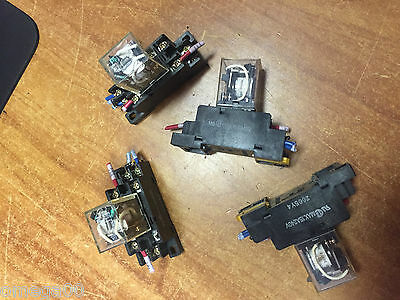 lot of 4 Omron LY2N Cube Relays 220~240V/AC Coil with  Socket Base