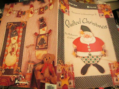Quilted Christmas Painting Book-Rebecca Carter-Santas/Snowmen