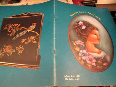 Calico Attic-Memories From Hidden Corners Painting Book #1-Stewart Autographed-G