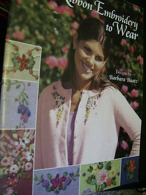 Ribbon Embroidery To Wear Craft Book-Barbara Baatz-8 Designs