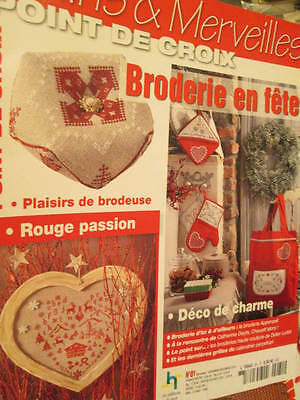 Mains & Merveilles Point De Croix Broderie En Fete Cross Stitch Magazine #81