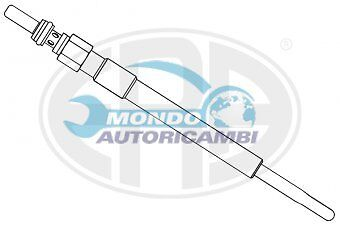 CANDELETTA ACCENSIONE LANCIA MUSA 1.3 D Multijet 66KW 90CV 09/2006  UY2A HDS424