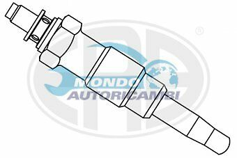 Candeletta Accensione Peugeot 106 I 1.4 D 37Kw 50Cv 09/1992 04/96 Ux12A Hds339