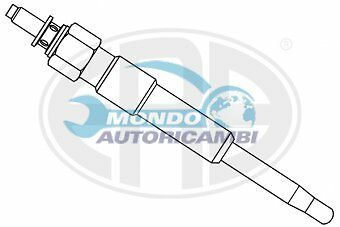 CANDELETTA ACCENSIONE MERCEDES-BENZ Berlina (W123) 240 D (123.123) 53KW 72CV
