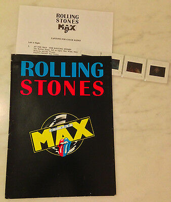 ROLLING STONES AT THE MAX (1991) Press Kit Folder, Color Slides; IMAX Concert