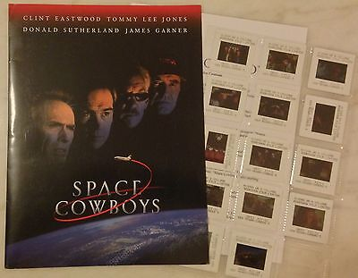 SPACE COWBOYS (2000) Press Kit Folder, Color Photo Slides; Clint Eastwood