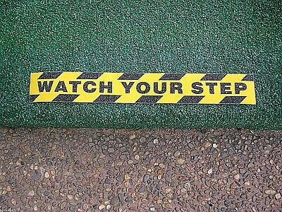 Watch your step tape /Sticker Commercial,Anti slip,High Grit strips,Safety,Trip.