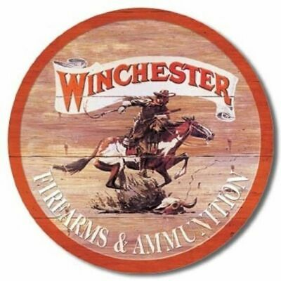 Big 40x31 cm WINCHESTER FIREARMS Pub Retro Garage Tin Metal Sign Man Cave Bar