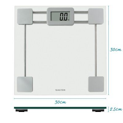 Salter 9082 Toughen Glass LCD Electronic Bathroom Weight Scale 15 Years Warranty