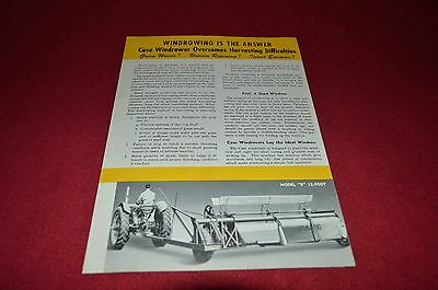 Case Tractor Windrower For 1950 Dealer's Brochure YABE8