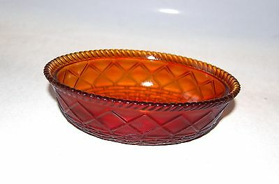 Westmoreland Glass Hen on Nest Covered Dish Amber BOTTOM ONLY Marked