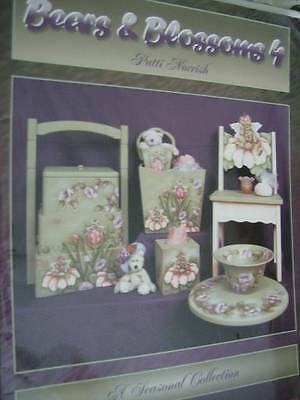 Bears & Blossoms Painting Book #4 -A Seasonal Collection By Patti Norrish, Paper