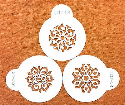 Cake Decorating 3 Floral Stencil Set Wedding Cakes &other Cakes Art & Crafts S34