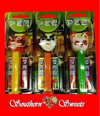 Pez Kung Fu Panda Lollies 6 Pack Collectors  Items Free Postage