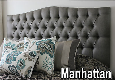 New Bed Head Double Size  Diamond Pleated Upholstered Bedhead / Headboard I