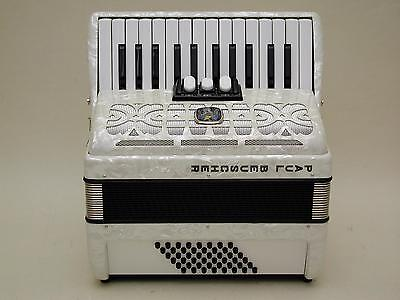 Excellent German Piano Accordion WELTMEISTER PAUL BEUSCHER 48 Bass With Case .