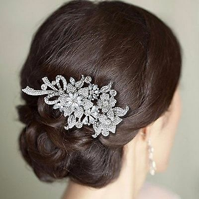 Hair Comb Vintage Wedding Bridal Silver Crystal Styling Head Piece Accessories