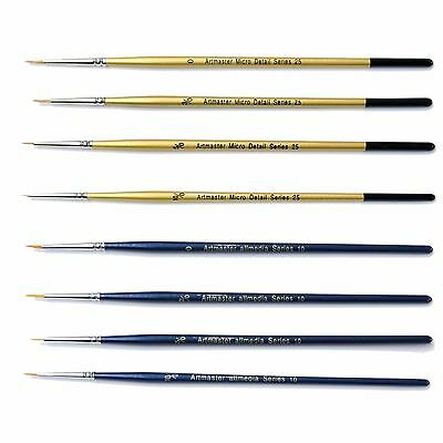 Artmaster Fine Detail Paint Brush Set of 8 Art, Hobby, Modelmakers, Warhammer