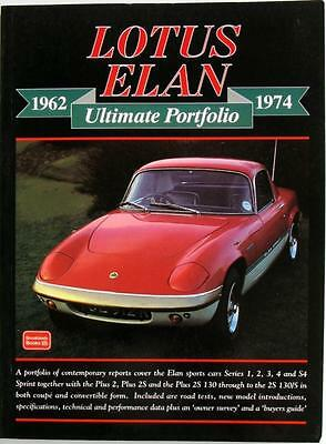 Lotus Elan 1962-1974 Ultimate Portfolio - R M Clarke Isbn:1855205513 Car Book