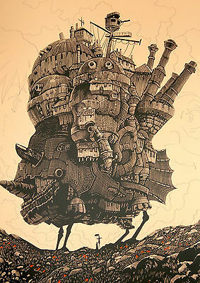 Howl's Moving Castle Classic Anime Movie Art Large Poster - A0, A1, A2, A3, A4