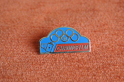 15154 Pin's Pins Jo Albertville 92 Olympic Games Photo Chronofilm