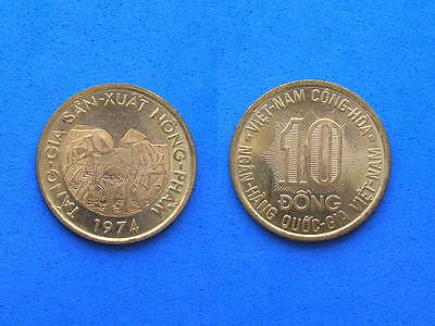South Vietnam 10 Dong FAO Coin, 1974 UNC luster, 24.4 mm, Combined S&H Discounts
