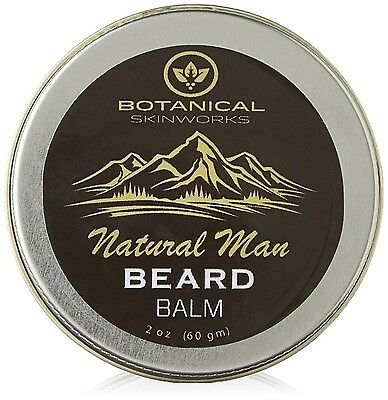 Natural Man Beard Conditioning Balm with Jojoba and Argan Oils - All Natural ...