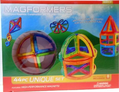NEW Magformers 44Pc Unique Set (MF63214) FREE SHIPPING