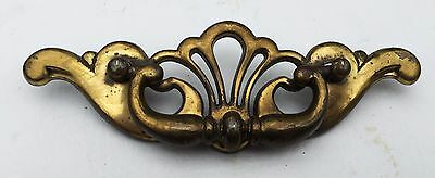 Antique Hardware Vintage Brass Batwing Chippendale Drawer Pull 3 1/2 inch center
