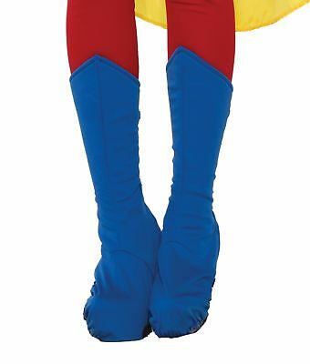 Adult Superhero Blue Adult Boot Tops Shoe Covers Halloween Costume Accessory
