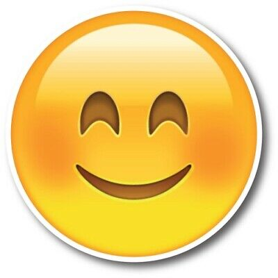Smiley Face Smiling Emoji Magnet 5 inch Round Decal for Car Truck SUV or Fridge
